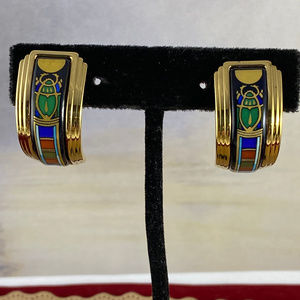 Michaela Frey Clip on Egyptian Revival Earrings